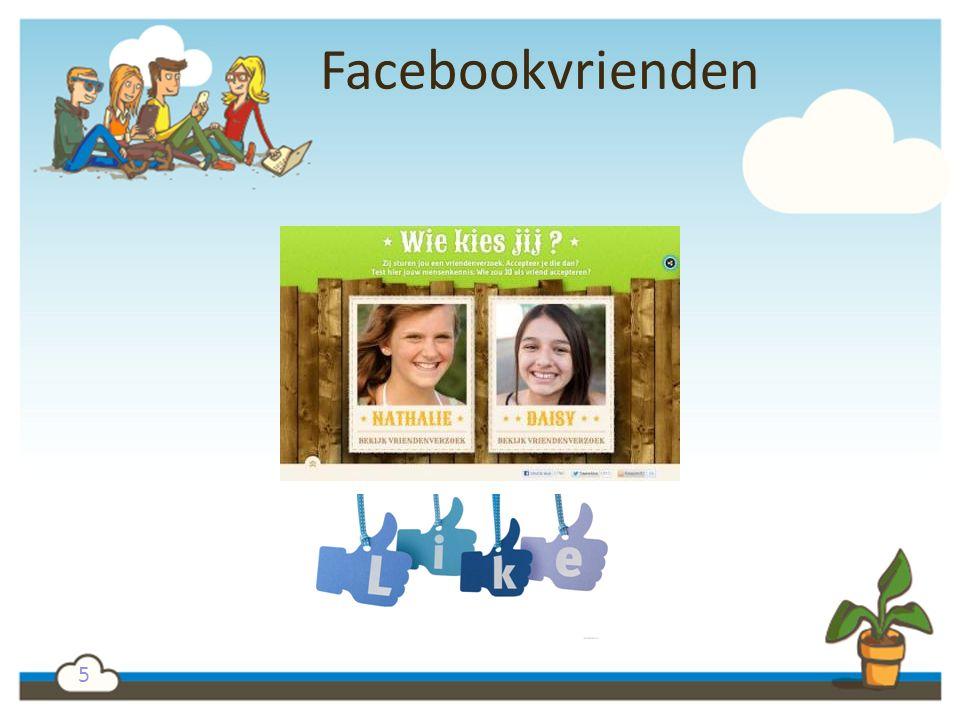 5 Facebookvrienden