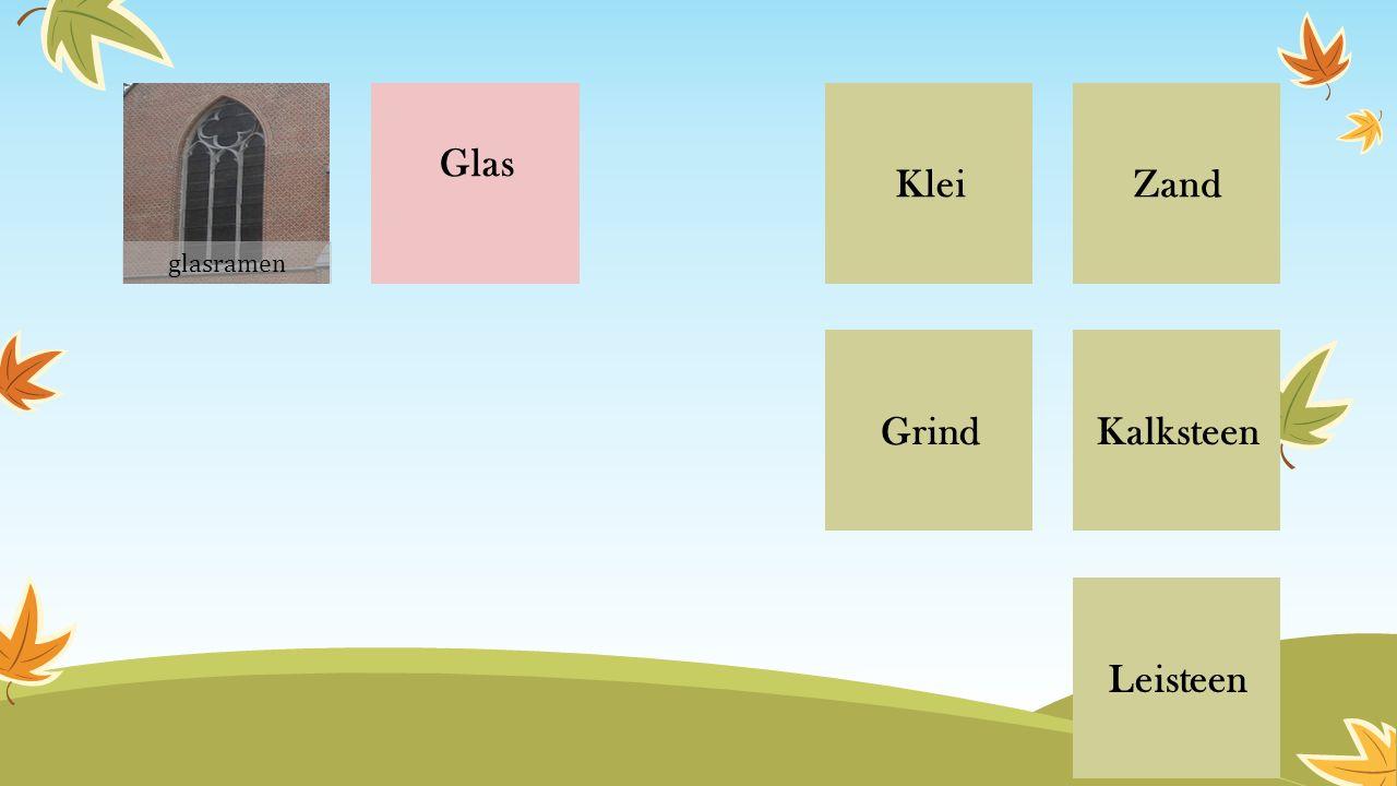 Glas ZandKlei Grind Leisteen Kalksteen glasramen