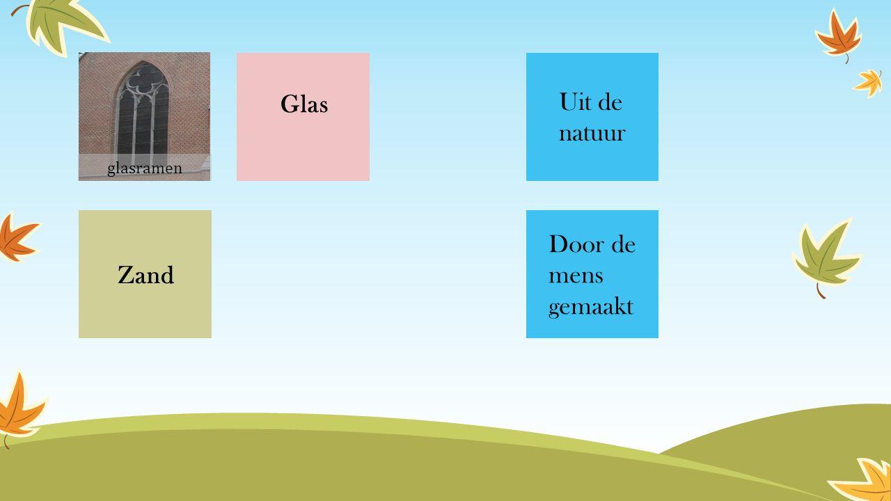 Glas Zand Uit de natuur Door de mens gemaakt glasramen
