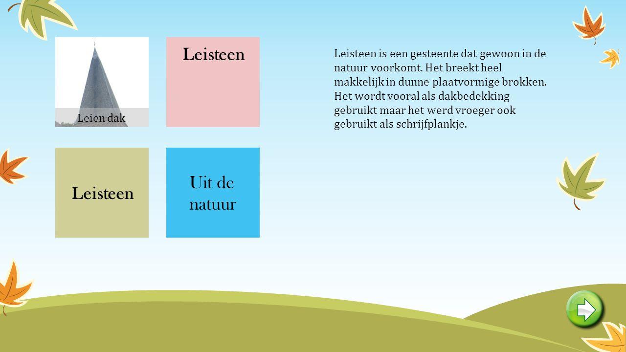 Leisteen is een gesteente dat gewoon in de natuur voorkomt.