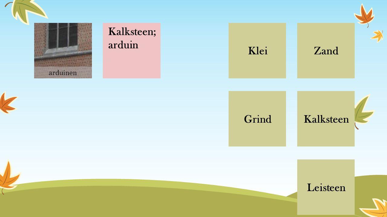 ZandKlei Grind Leisteen Kalksteen Kalksteen; arduin arduinen