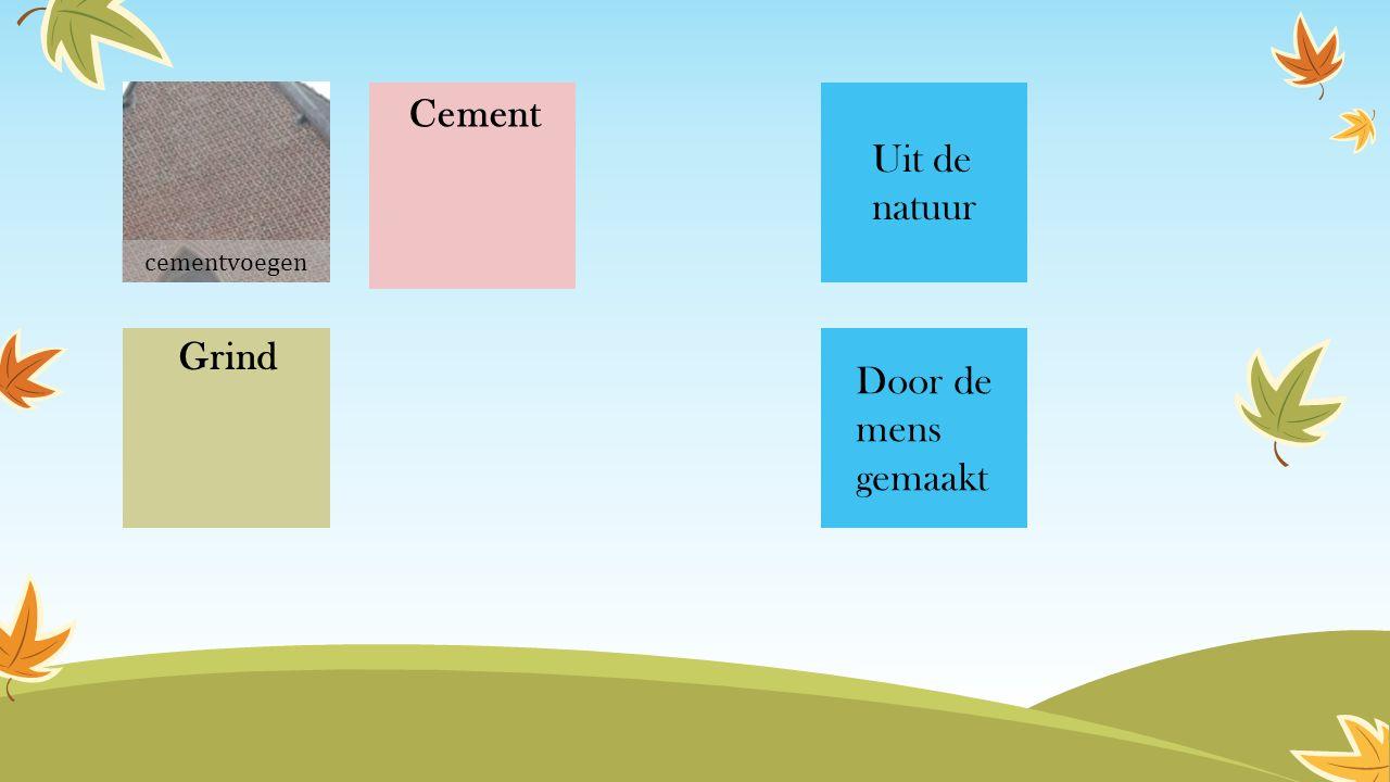 Cement Grind Uit de natuur Door de mens gemaakt cementvoegen
