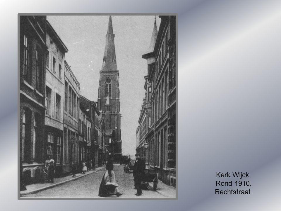 Rechtstraat. 1900.
