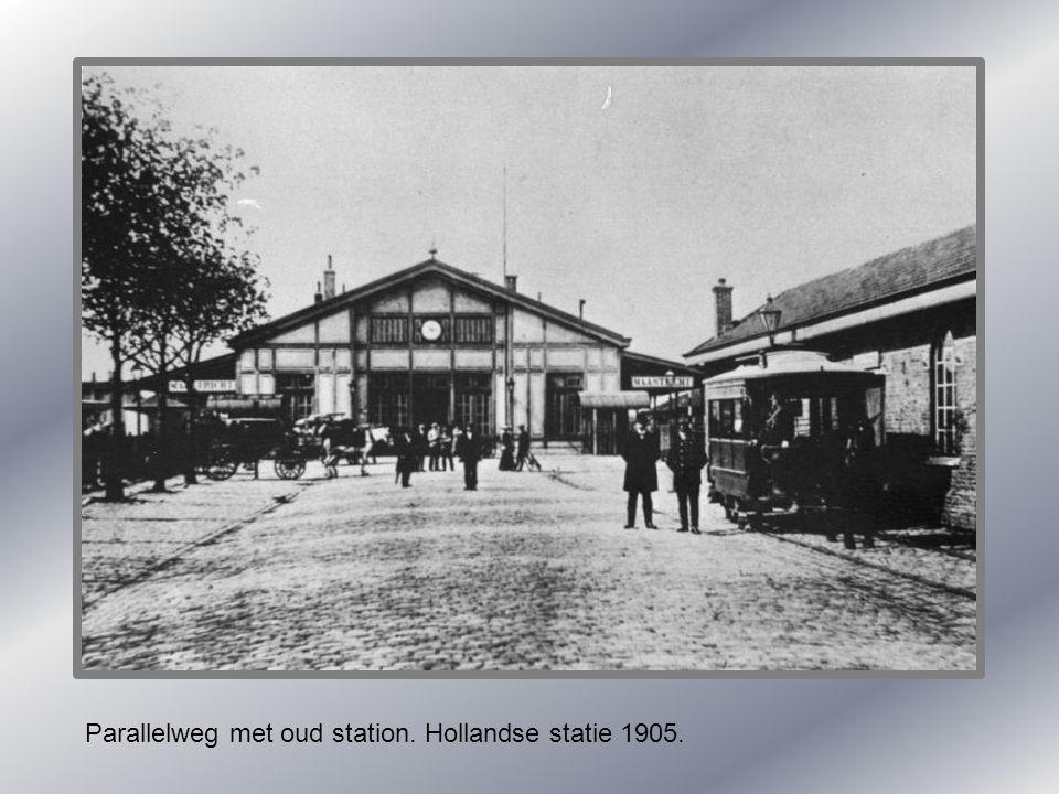 Koninklijk bezoek 1895. bij oud station.