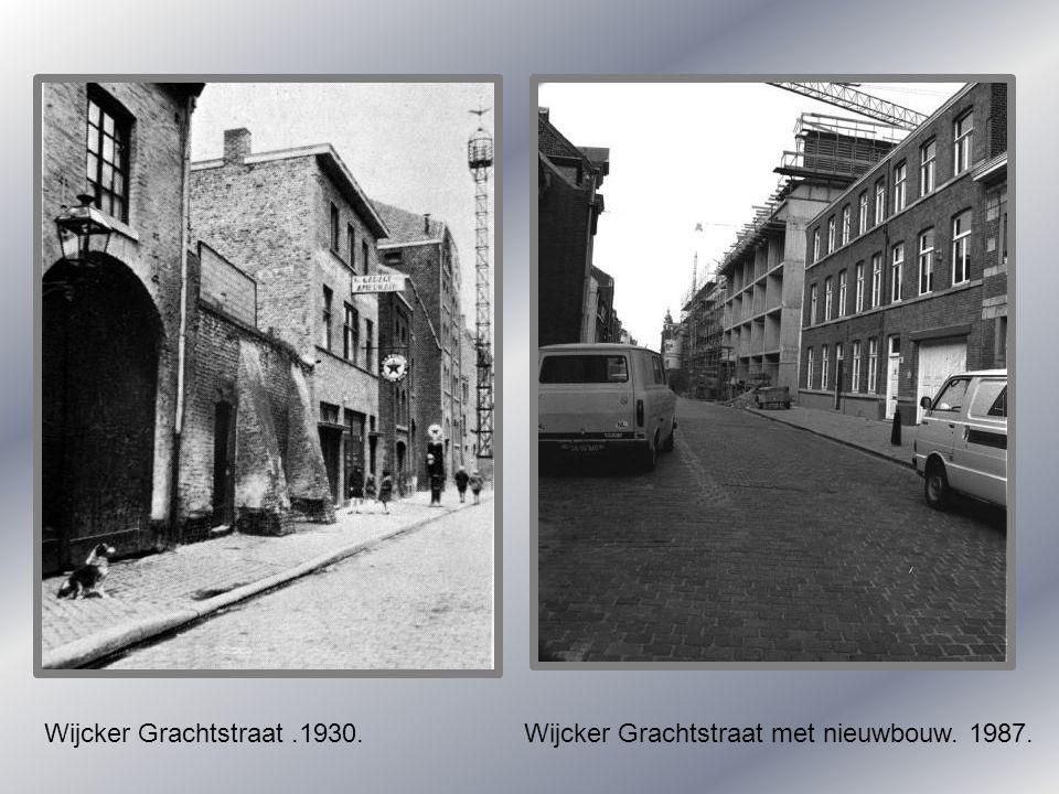 Tapijnstraat met zicht op Tillystraat. Witte vrouwenveld. Wijcker- Brugstraat. Rond 1900.