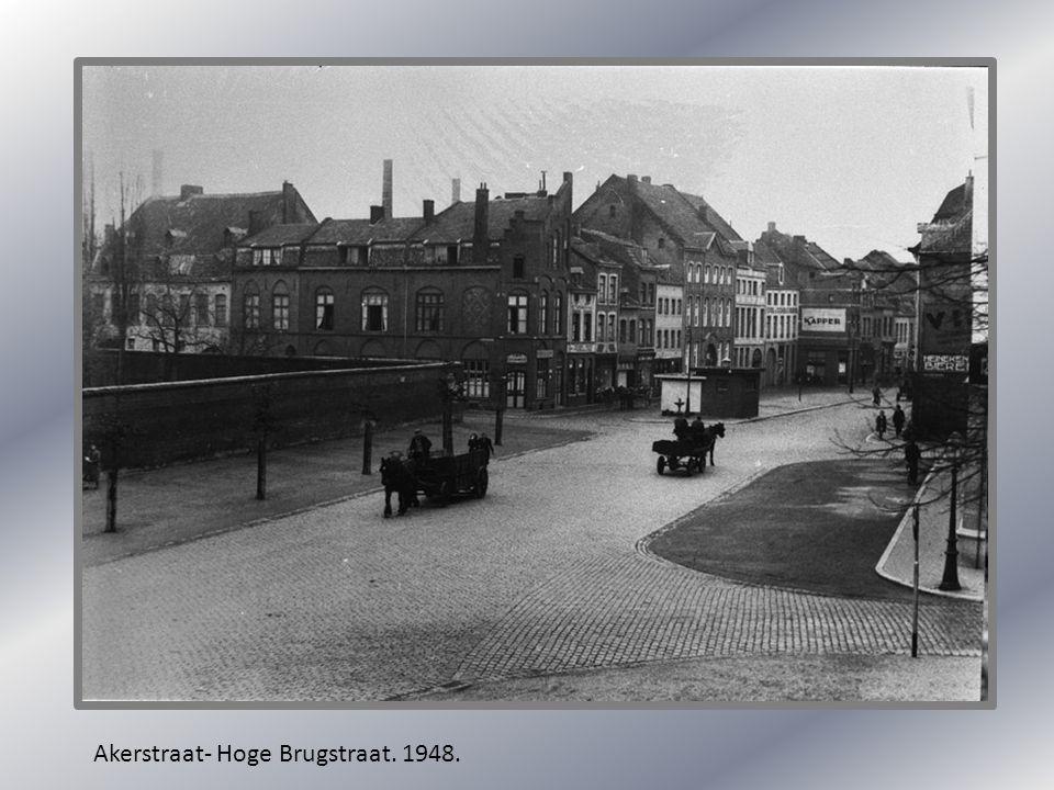 Akerstraat- Hoge Brugstraat. 1948.