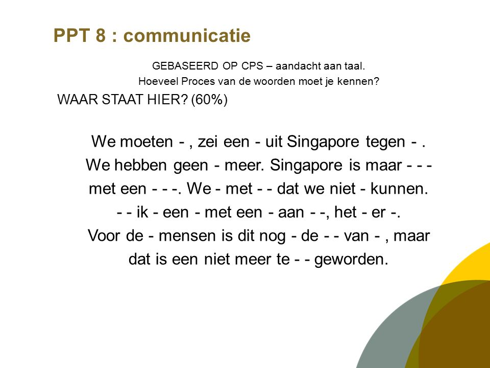 PPT 8 : communicatie VERGADERINGEN.