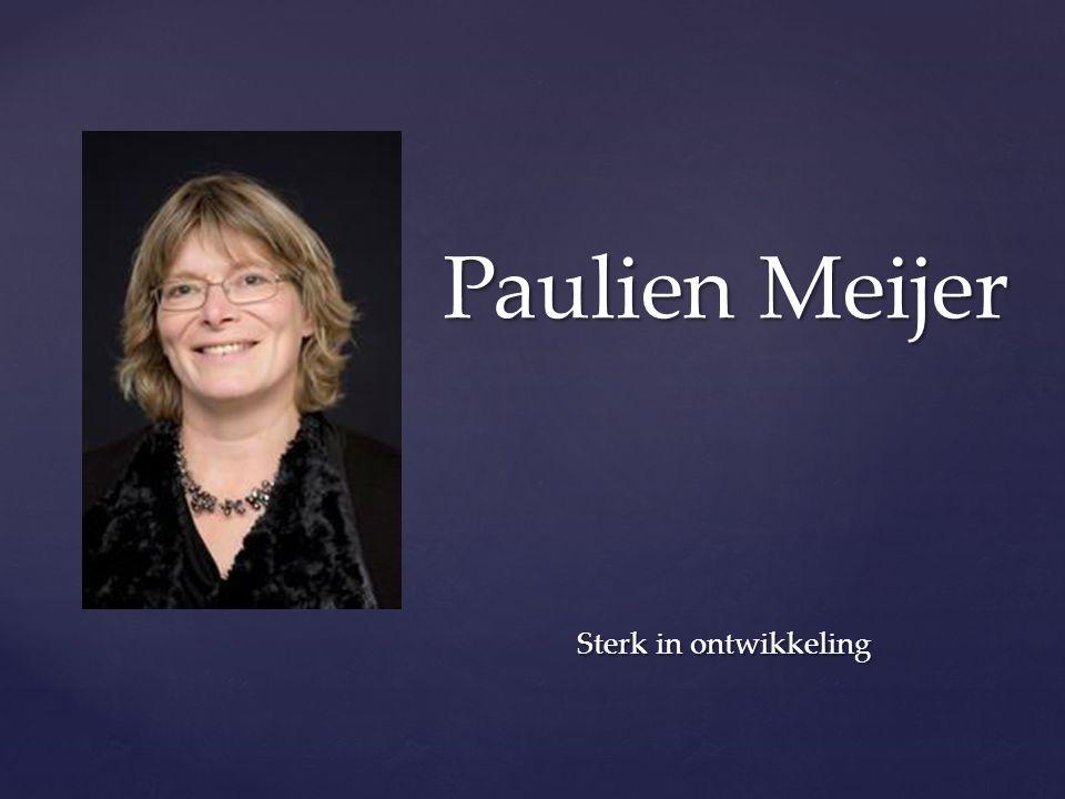 { Paulien Meijer Sterk in ontwikkeling Sterk in ontwikkeling