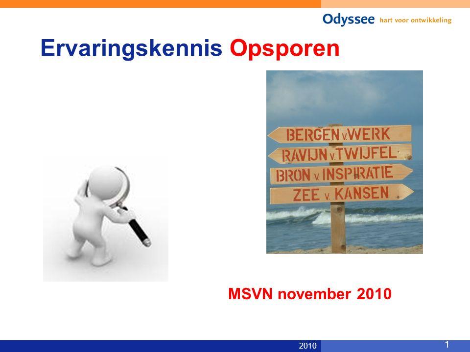 2010 1 Ervaringskennis Opsporen MSVN november 2010