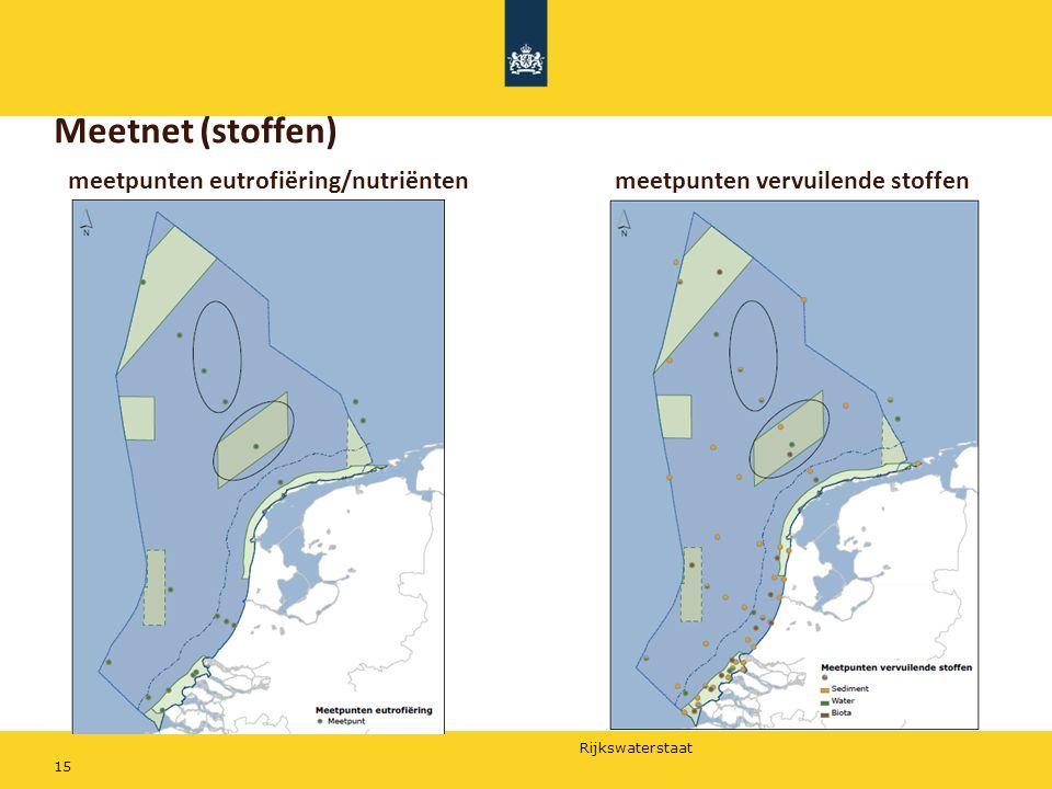 Rijkswaterstaat 15 Meetnet (stoffen) meetpunten eutrofiëring/nutriëntenmeetpunten vervuilende stoffen