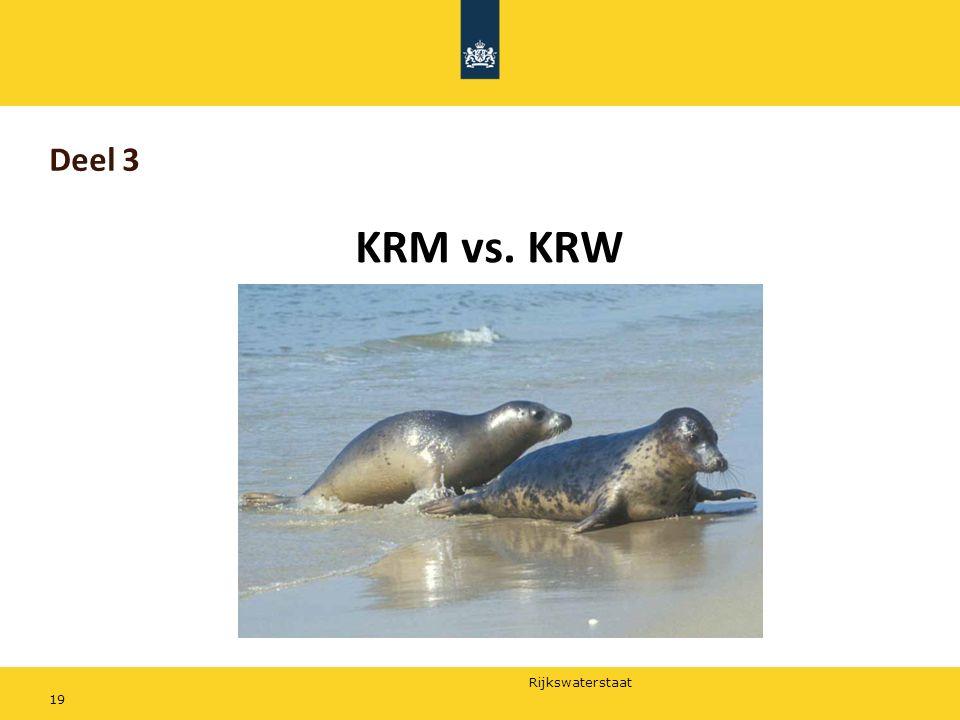 Rijkswaterstaat Deel 3 KRM vs. KRW 19