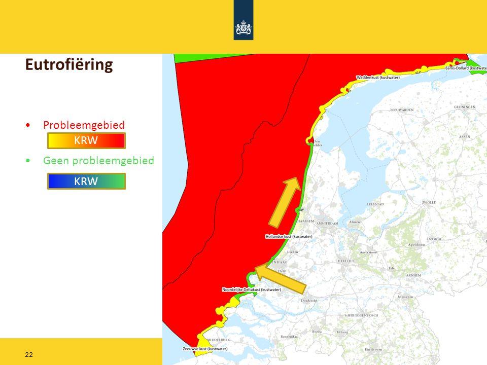 Rijkswaterstaat 22 Eutrofiëring Probleemgebied Geen probleemgebied KRW