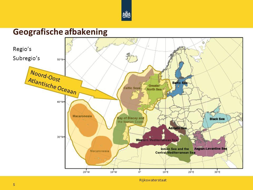 Rijkswaterstaat Regio's Subregio's 5 Geografische afbakening Noord-Oost Atlantische Oceaan