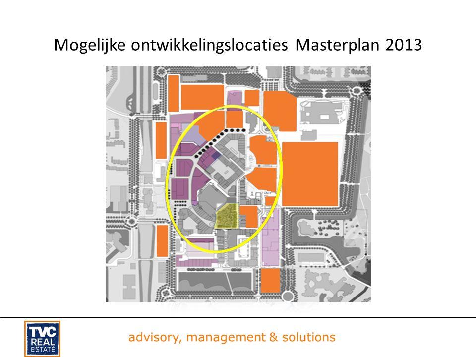 Mogelijke ontwikkelingslocaties Masterplan 2013