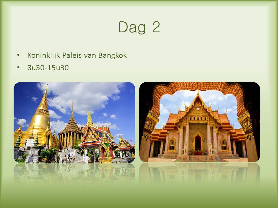 Dag 2 Koninklijk Paleis van Bangkok 8u30-15u30