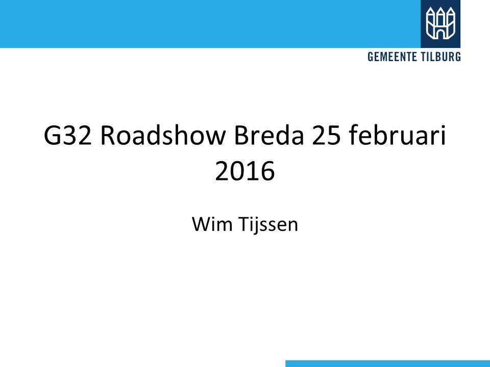 G32 Roadshow Breda 25 februari 2016 Wim Tijssen