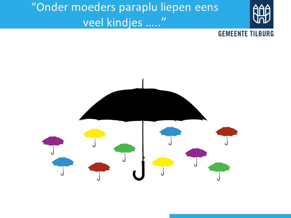 """""""Onder moeders paraplu liepen eens veel kindjes ….."""""""