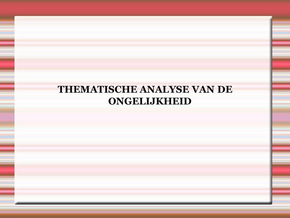 THEMATISCHE ANALYSE VAN DE ONGELIJKHEID