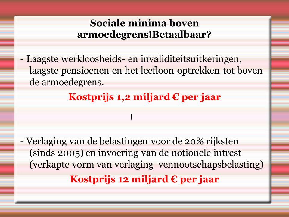 Sociale minima boven armoedegrens!Betaalbaar.