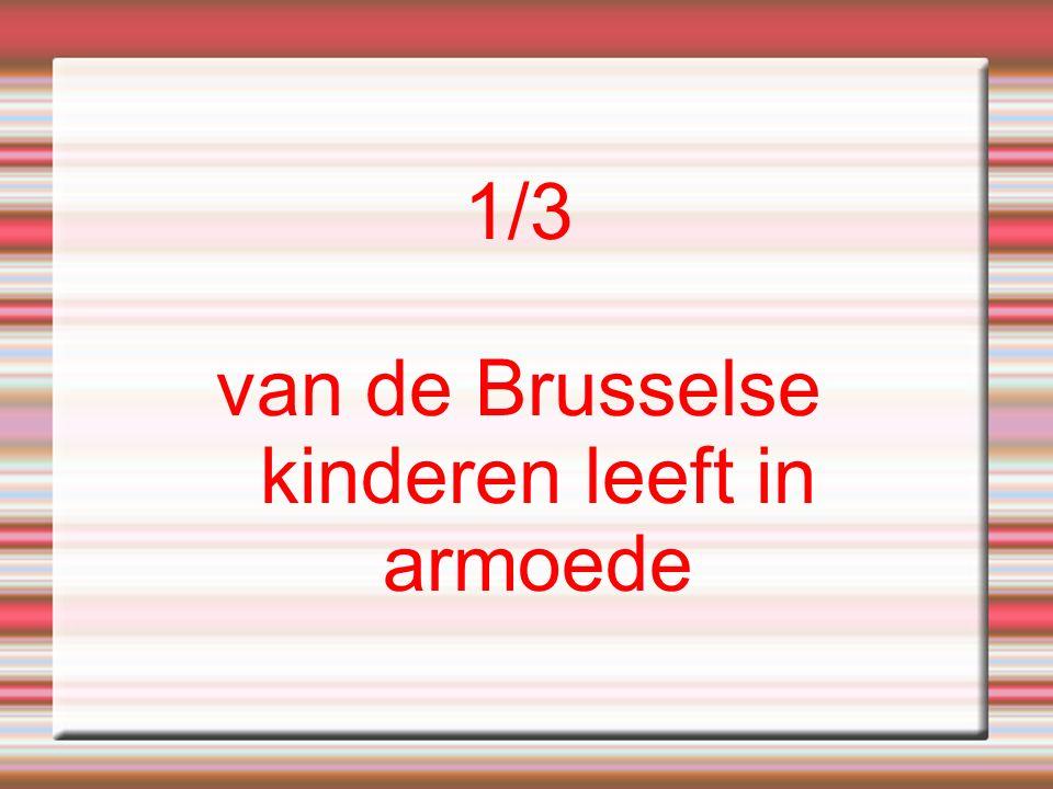 1/3 van de Brusselse kinderen leeft in armoede