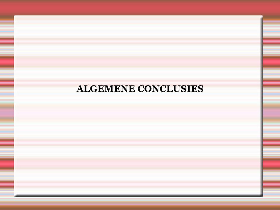ALGEMENE CONCLUSIES