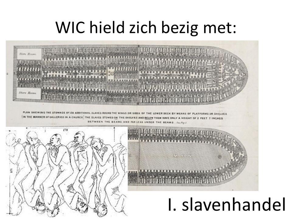 WIC hield zich bezig met: I. slavenhandel