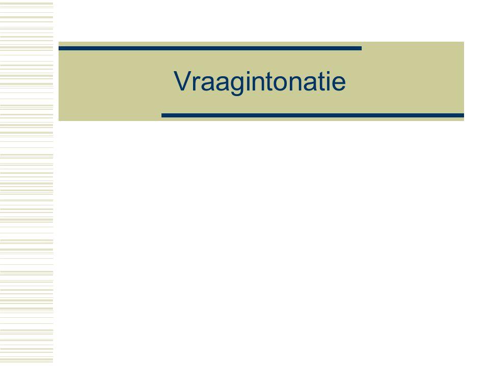 20 november 2015 DNZ9, Nijmegen 2015 20 Prosodie en zinstypering  Mogelijke hypothese elk zinstype dat syntactisch kan worden gesignaleerd kan ook melodisch gesignaleerd worden (in een taal op aarde)  Alle talen hebben Mededeling [~smelodie (meestal laag einde)] Vraag [~melodie (meestal iets hoogs)] Continuering[~melodie ('zin nog niet af'] Uitroep/exclamatie [~melodie.