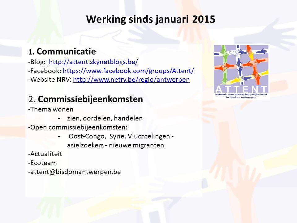 Werking sinds januari 2015 1.