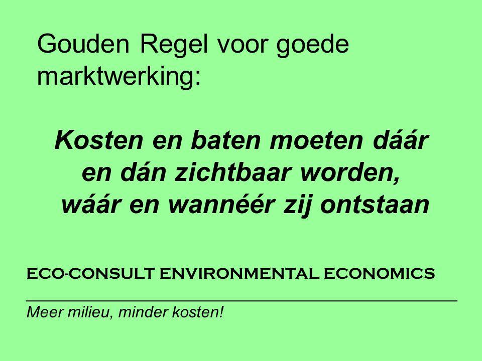 ECO-CONSULT ENVIRONMENTAL ECONOMICS ________________________________________________ Meer milieu, minder kosten.