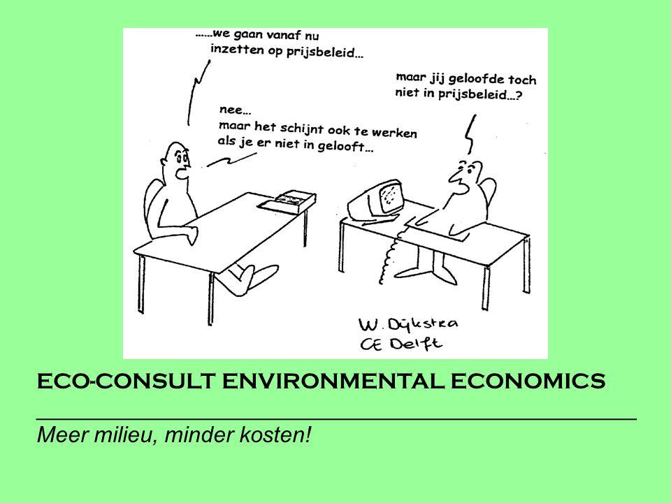ECO-CONSULT ENVIRONMENTAL ECONOMICS ________________________________________________ Meer milieu, minder kosten!