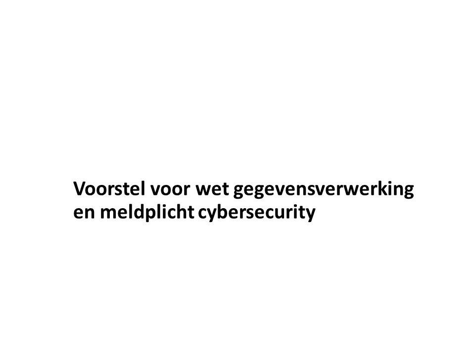 Voorstel voor wet gegevensverwerking en meldplicht cybersecurity