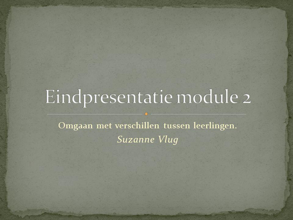 Omgaan met verschillen tussen leerlingen. Suzanne Vlug