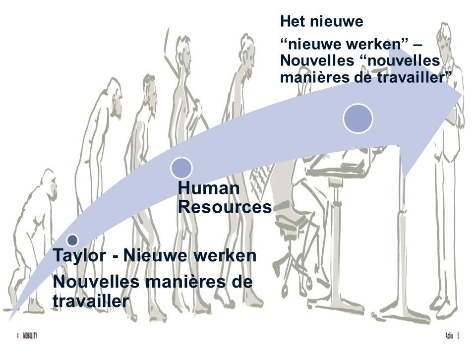 3 Taylor - Nieuwe werken Nouvelles manières de travailler Human Resources Het nieuwe nieuwe werken – Nouvelles nouvelles manières de travailler