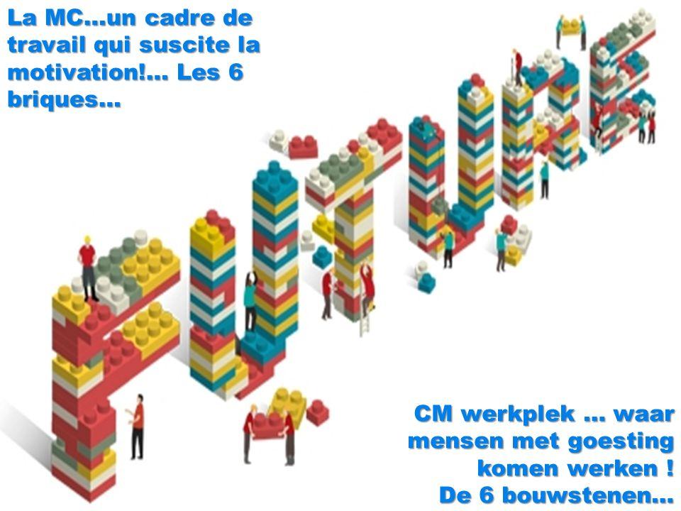 5 CM werkplek … waar mensen met goesting komen werken .
