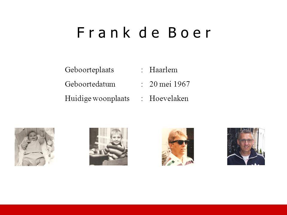 Geboorteplaats:Haarlem Geboortedatum:20 mei 1967 Huidige woonplaats:Hoevelaken