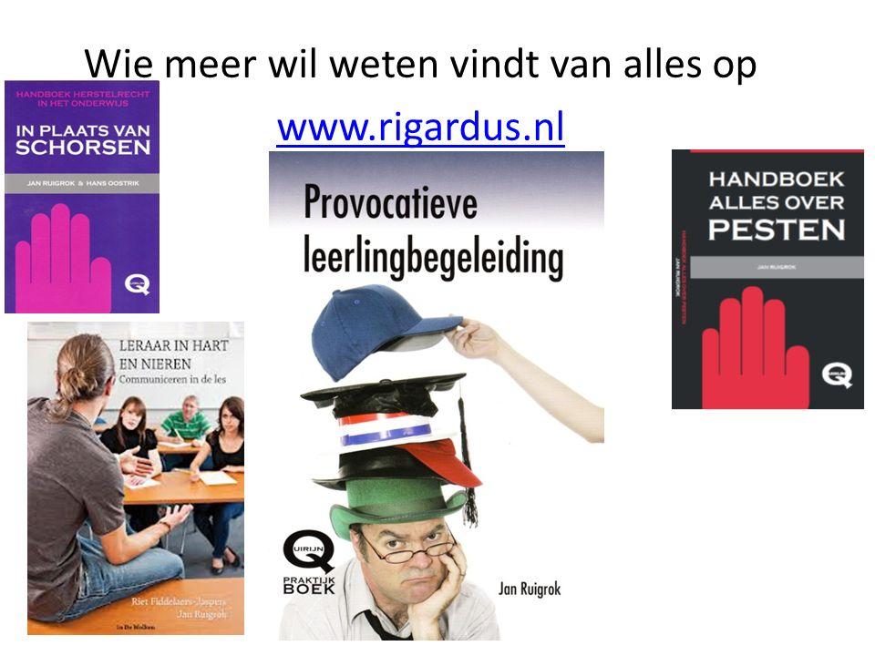 Wie meer wil weten vindt van alles op www.rigardus.nl