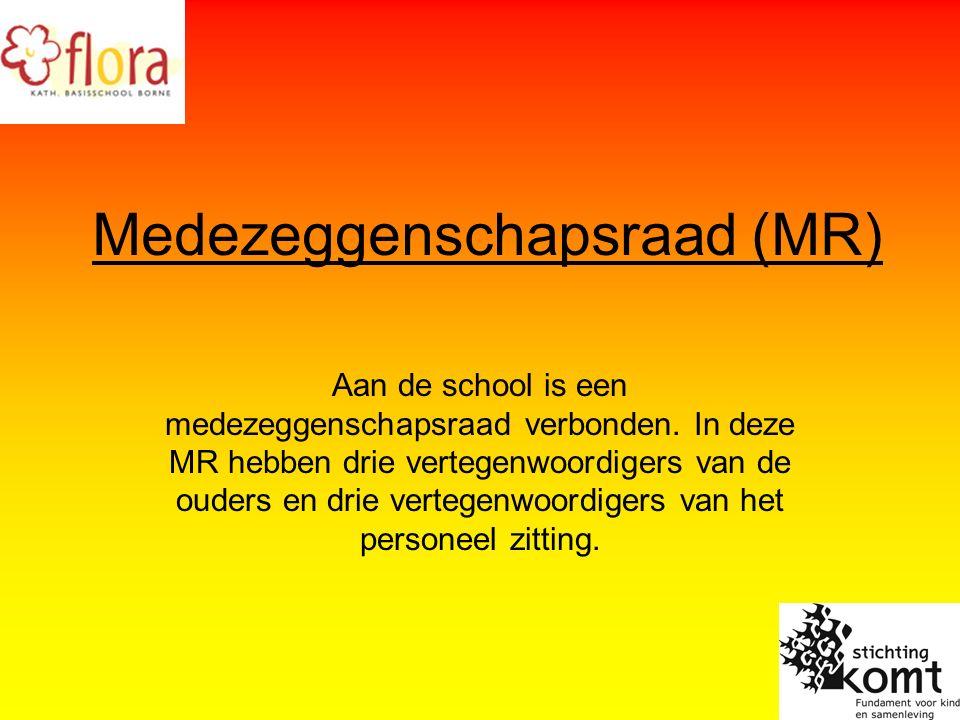 Medezeggenschapsraad (MR) Aan de school is een medezeggenschapsraad verbonden.