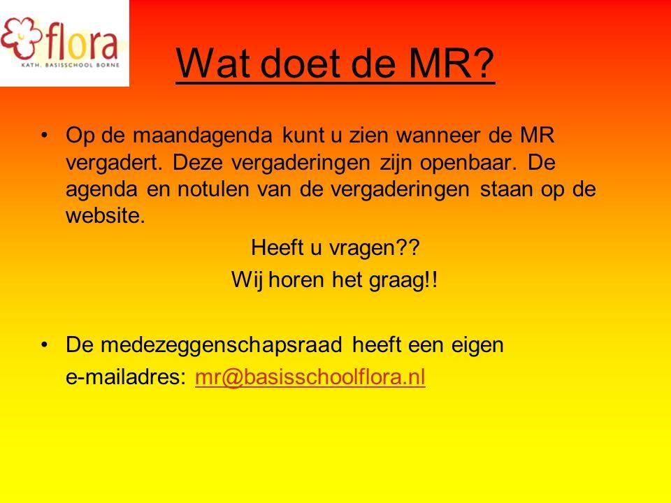 Wat doet de MR. Op de maandagenda kunt u zien wanneer de MR vergadert.