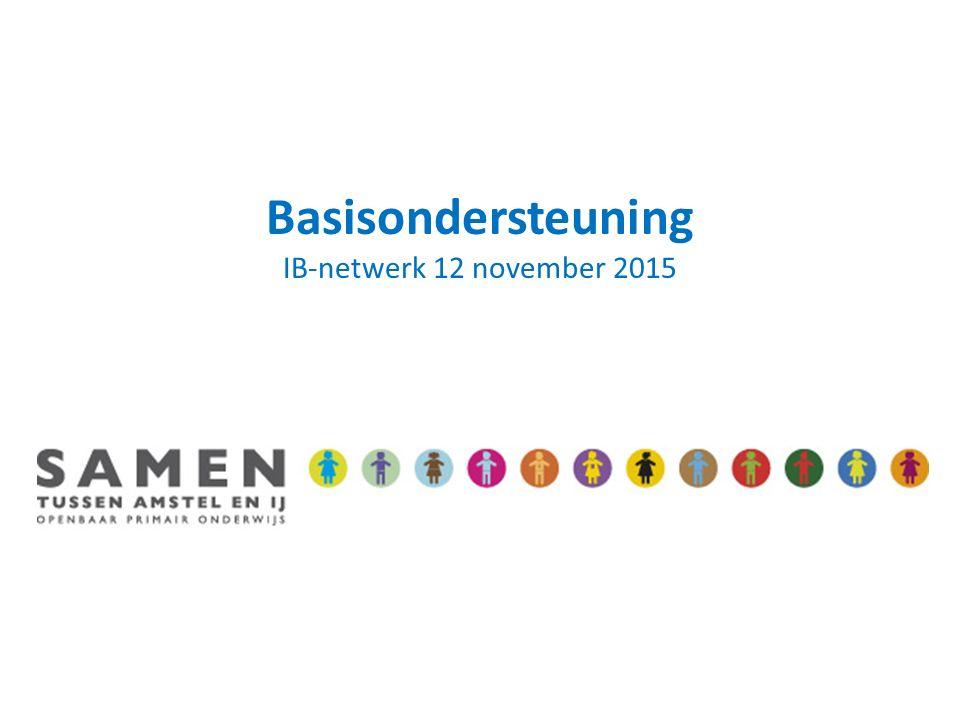 Basisondersteuning IB-netwerk 12 november 2015