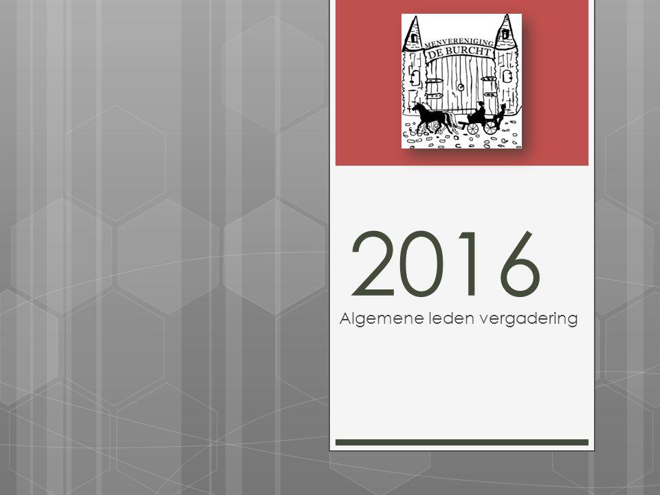 2016 Algemene leden vergadering