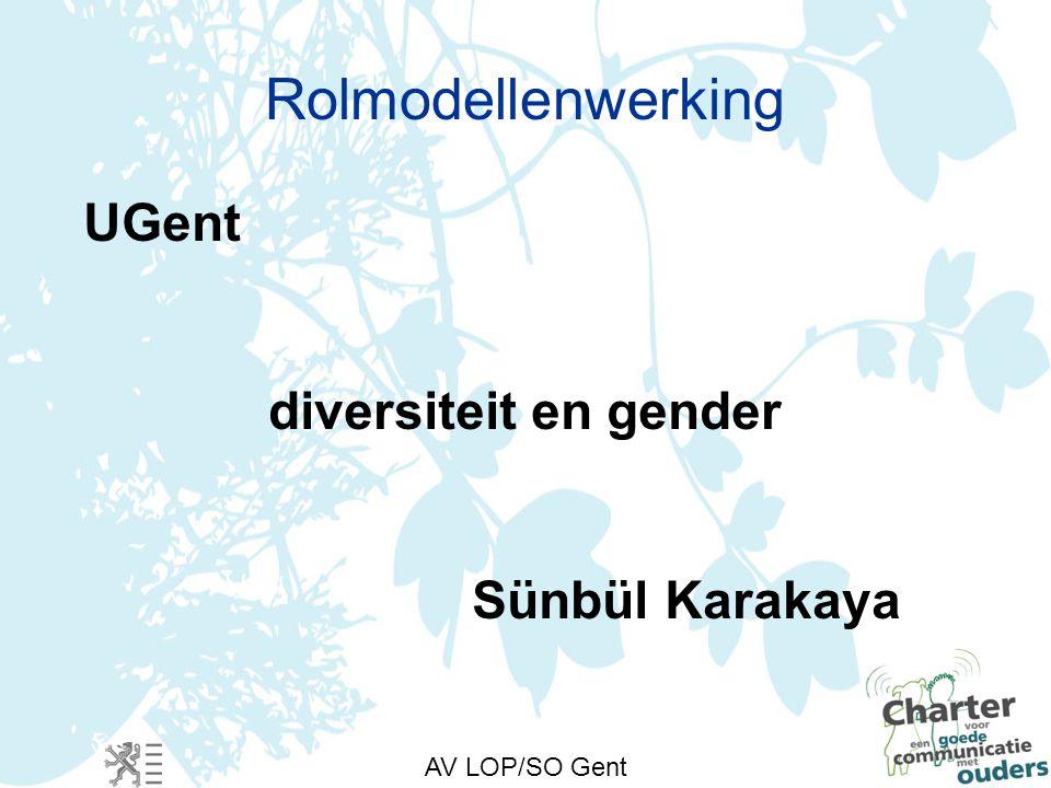 AV LOP/SO Gent Rolmodellenwerking UGent diversiteit en gender Sünbül Karakaya