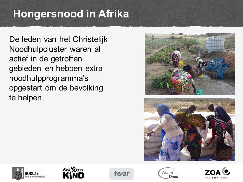 De leden van het Christelijk Noodhulpcluster waren al actief in de getroffen gebieden en hebben extra noodhulpprogramma's opgestart om de bevolking te helpen.