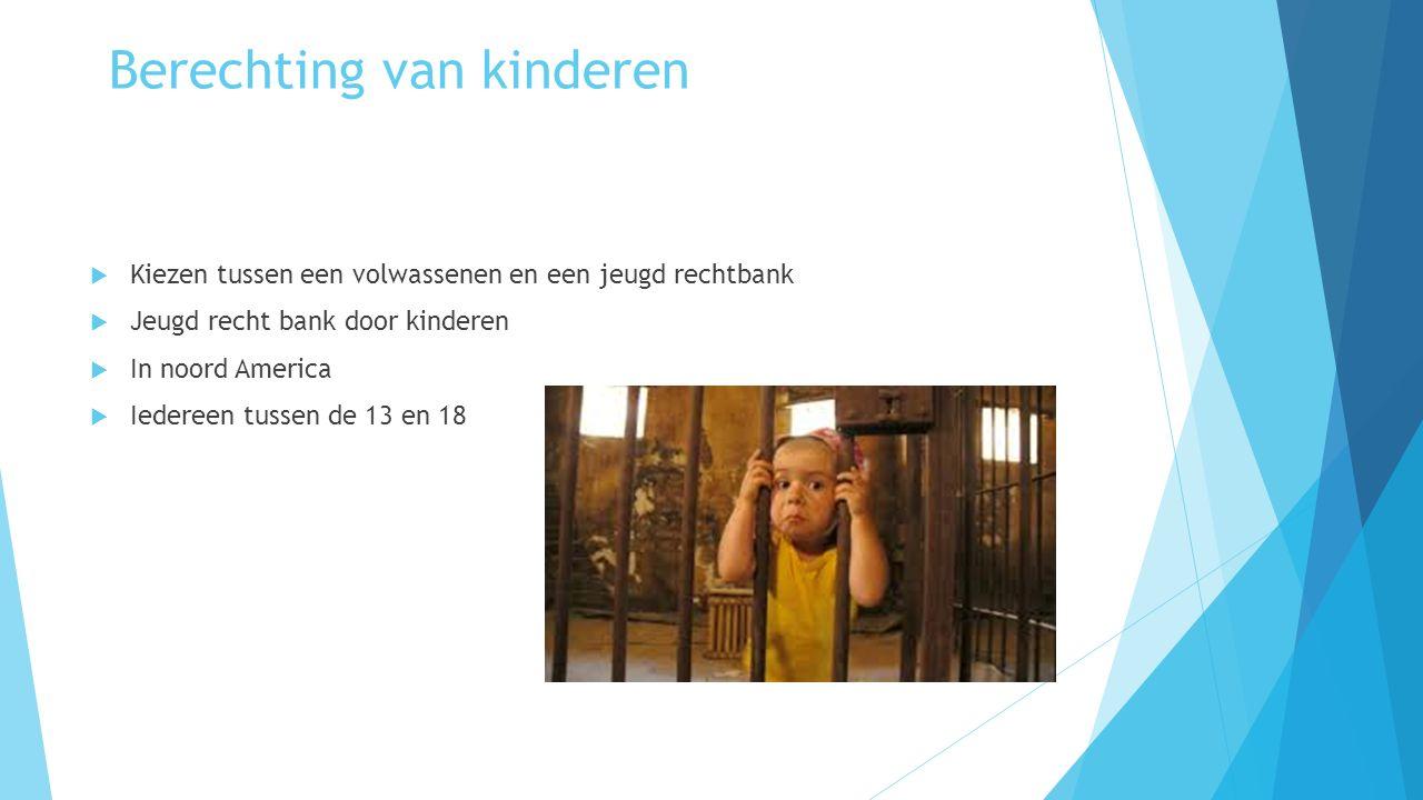 Berechting van kinderen  Kiezen tussen een volwassenen en een jeugd rechtbank  Jeugd recht bank door kinderen  In noord America  Iedereen tussen d