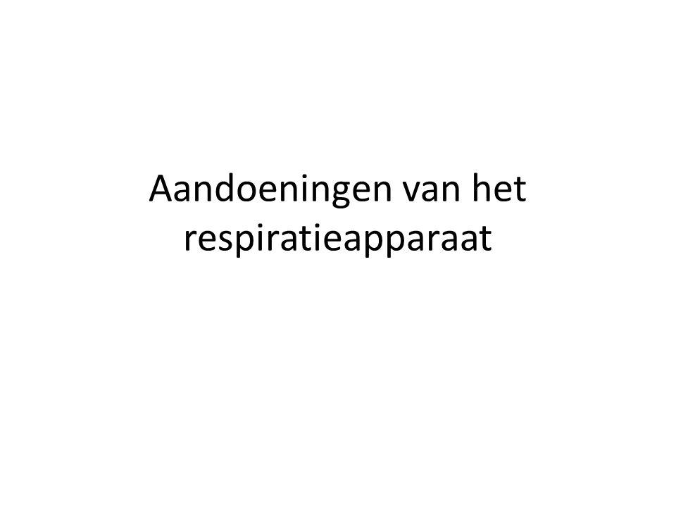 Aandoeningen van het respiratieapparaat