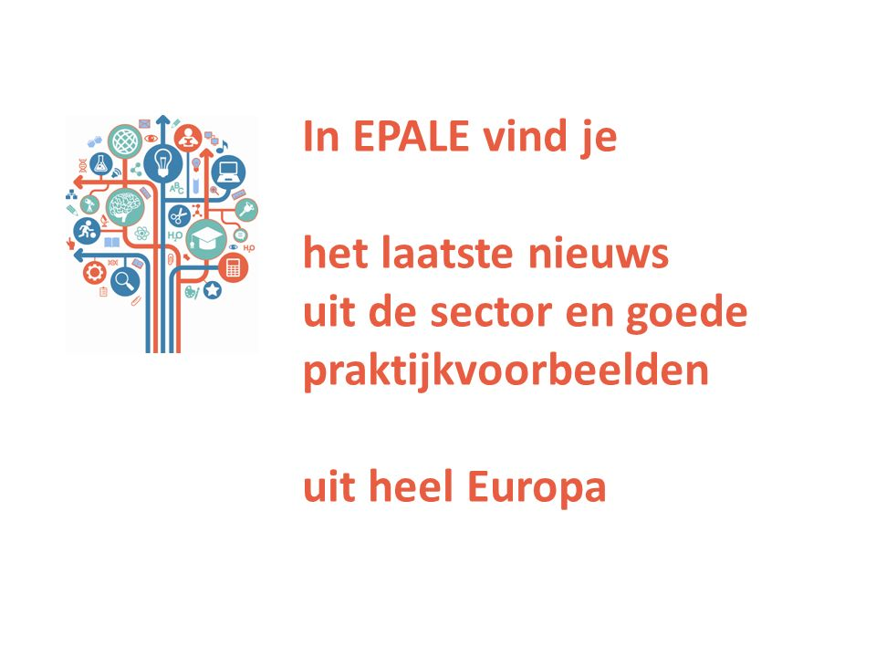 In EPALE vind je het laatste nieuws uit de sector en goede praktijkvoorbeelden uit heel Europa