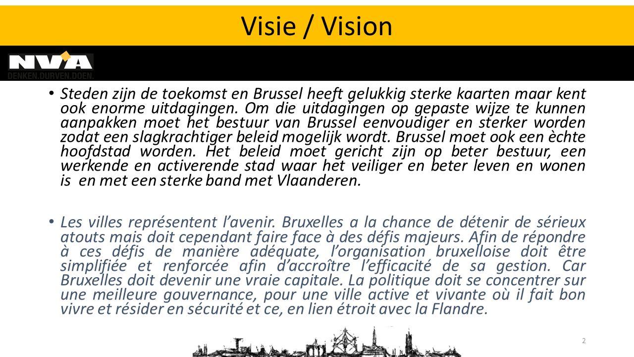 Steden zijn de toekomst en Brussel heeft gelukkig sterke kaarten maar kent ook enorme uitdagingen. Om die uitdagingen op gepaste wijze te kunnen aanpa