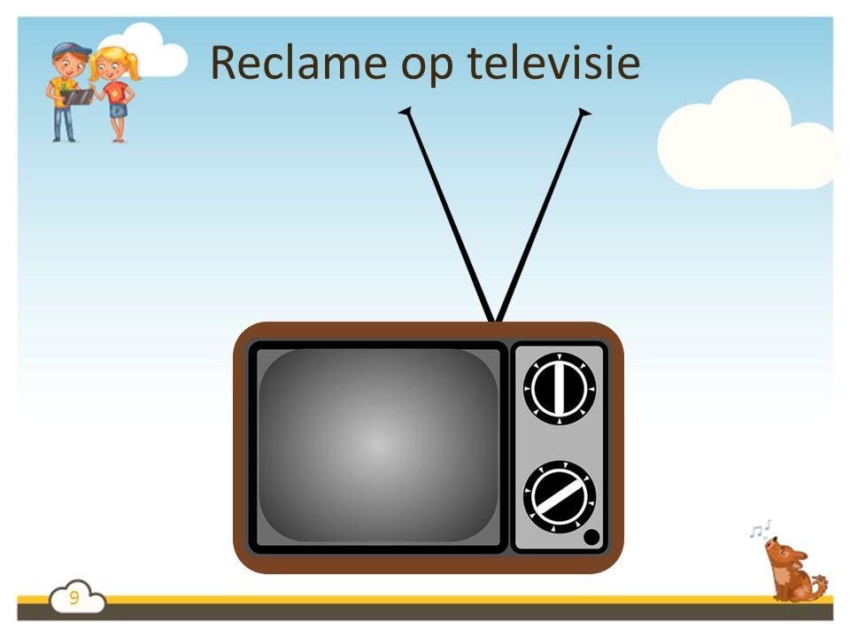9 Reclame op televisie