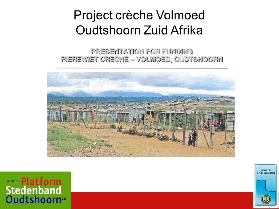 Project crèche Volmoed Oudtshoorn Zuid Afrika