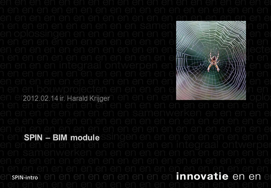 SPIN-intro SPIN – BIM module 2012.02.14 ir. Harald Krijger