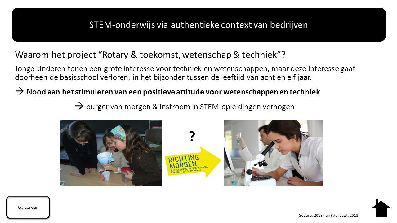 """Waarom het project """"Rotary & toekomst, wetenschap & techniek""""? Jonge kinderen tonen een grote interesse voor techniek en wetenschappen, maar deze inte"""